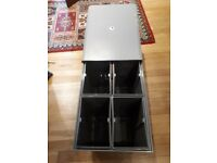 New Integrated kitchen waste bin / recycling system 4 x 10 litre bins