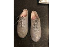 Silver Katz Jazz Shoes. Size 11