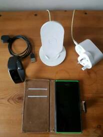 Nokia Lumia Phone, Wireless Charger and Microsoft Band2 smart watch
