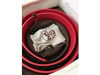 Women's red Hermes belt BNWB