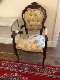 Pair of Louis style Upholstered armchairs