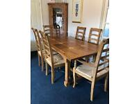 Stunning Flagstone Dining Table & Chairs