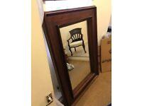 Hardwood mirror