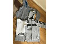 Adidas 2 x hoody and 1 x t-shirt Age 11-12