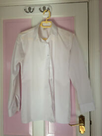 M & S and John Lewis girl's school white shirt