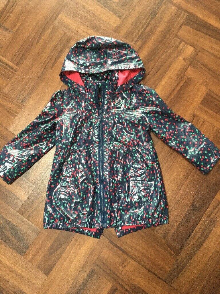 Girls Ted Baker lined rain coat age 3-4