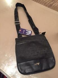 ARMANI JEANS SIDEBAG MESSENGER BAG POUCH AJ BAG