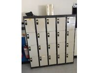 Metal Staff lockers safe storage for work place