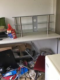Glass TV stand lovely condition