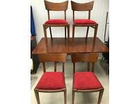 G plan draw leaf table and 4 chairs FREE DELIVERY PLYMOUTH AREA