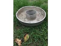 Vintage Galvanised Round Animal Feeder Trough Reclaimed