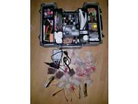 ACRYLIC EXTENSION NAIL KIT WITH NAIL ART & CARY CASE TIPS ETC