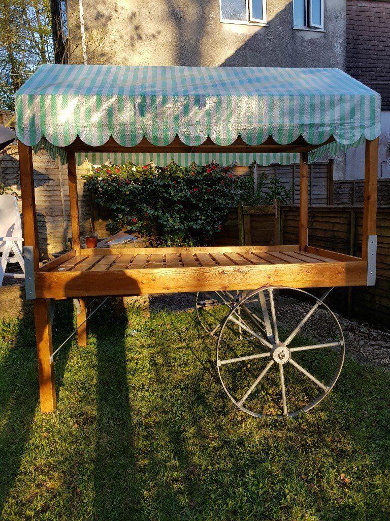 Market Stall/Shop Solid Wood Indoor/Outdoor Display POS Cart with  Galvanised Steel Wheels & Chassis | in Tavistock, Devon | Gumtree