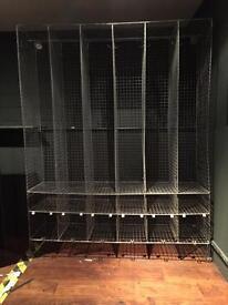 Vintage mesh industrial school lockers
