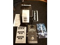 TC electronic stereo ditto looper pedal . Boxed never gigged.