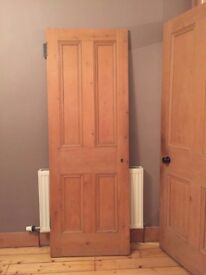 Victorian period internal four panel pine door 83.4''x 29.5''x1.1'' 212x75x3cm Leith