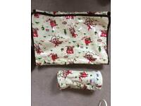 Cath Kidston changing mat and bottle warmer