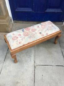 Mahogany long Footstool - with claw and ball feet . In good condition .