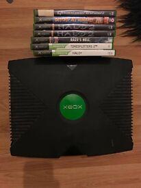 Original Xbox plus games, no cables spares repairs