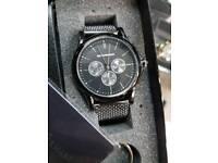 Men's designer gift set includes watch+perfume+wallet