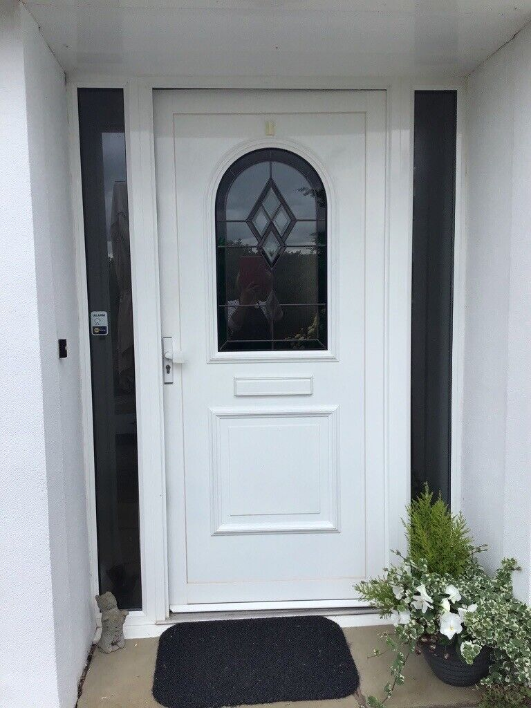 Double Glazed Front Door White Aluminium With Glass Side Panels In Taunton Somerset Gumtree