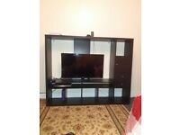 3 large sofas, wardrobe, tv unit. (Books and juicer and plant fot free)