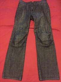 Berik Dark Blue Motorcycle Jeans with armour, Size L
