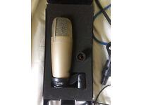 Behringer C-1 Studio Condenser Microphone and power supply + headphones