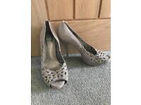 Faith suede diamonte high heels size 5