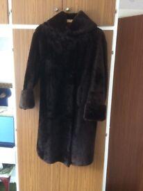 Ladies Beaver Lamb fur coat