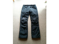 RST Textile motorcycle trousers - size small, as new.