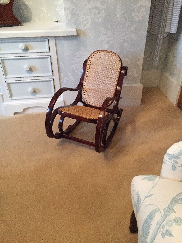 Enjoyable Childs Vintage Bentwood Rocking Chair Caned Seat And Back Could Suit Doll Teddy Collectors In Milton Keynes Buckinghamshire Gumtree Squirreltailoven Fun Painted Chair Ideas Images Squirreltailovenorg