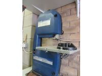 """Draper 9"""" two wheel bandsaw c/w manual & parts list working order but may need new blade"""