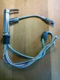Single lever spray head tap