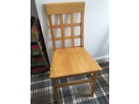 Kitchen chair x 4 solid Maple wood