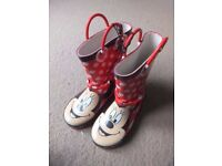 ( New ) Mothercare Minnie wellies size 9