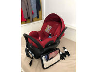 Maxi cosi car seat with isofix (US design) with Bugaboo Cameleon adapters and security mirror