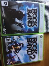 Xbox 360 rock band 1&2 game only