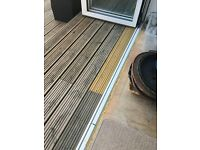 external bifold double glazed doors 3 panels