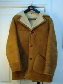 Vintage Mens Sheepskin Coat