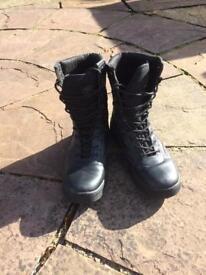 Size 7 black patrol boots