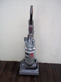 DYSON DC14 SILVER UPRIGHT BAGLESS VACUUM, FULLY CLEANED, WITH TOOLS
