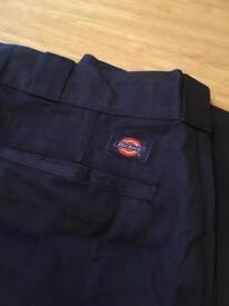 Dickies workwear trousers, blue, skate