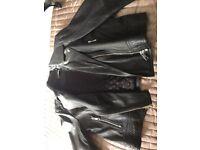 Jigsaw leather jacket