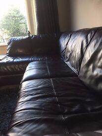 Black Corner Sofa PLUS Buffet