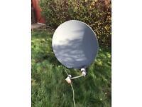 Satellite Dish with dual lnb