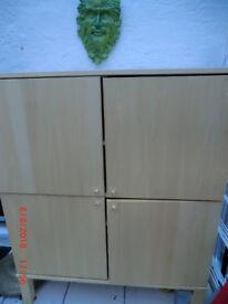 IKEA solid beech cabinet