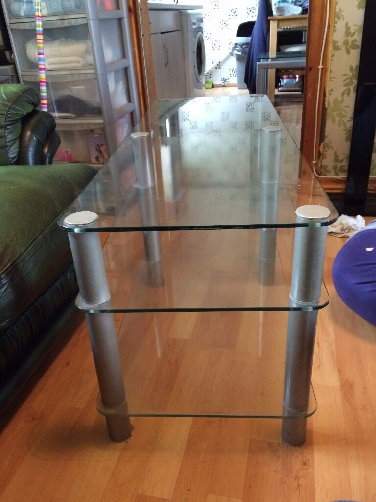 Glass TV Unit (good condition)