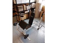 Multi GYM Weight Bench and Weights bars