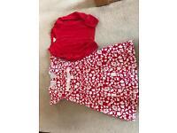 Girls Spanish designer dress and monsoon cardigan age 5-6
